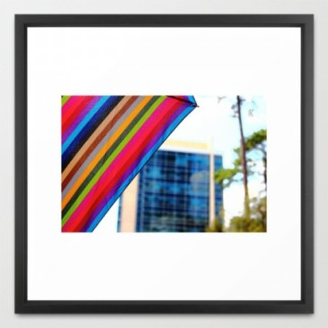 Rain.Art Colorblock Show| framed print