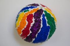 Michael G. feel Pride | I Painted Dog's Ball series | acrylic on tennis ball | 2015